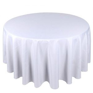 120 round tablecloth white