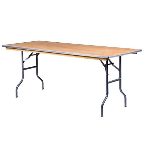 "72"" Rectangular Wood Table Rental"