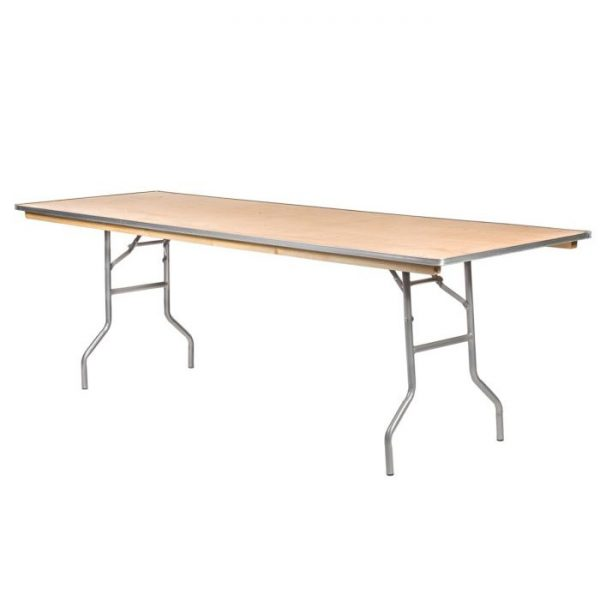 "96"" Wood Rectangular Banquet Table Rental"