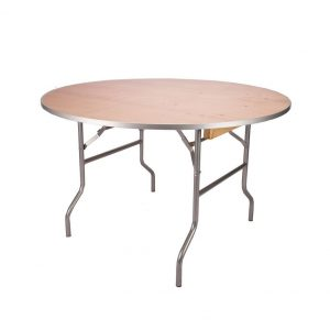"48"" Round Wood Table Rental"