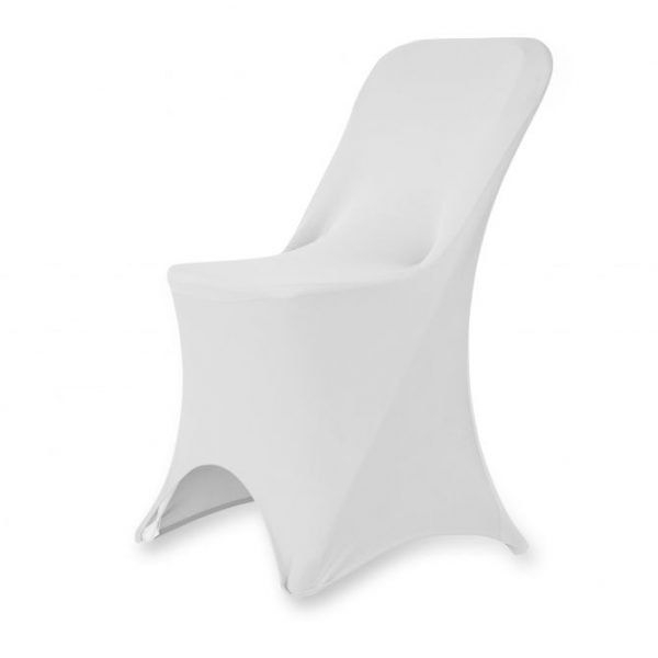 Folding Chair Spandex Cover - White