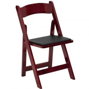 Mahogany Wood Folding Chair