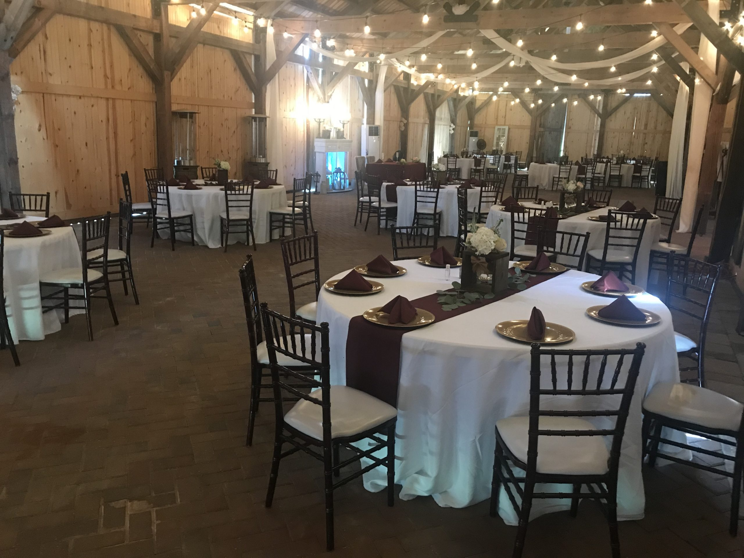 chairs, tables, linens - catering supplies Oak Hill